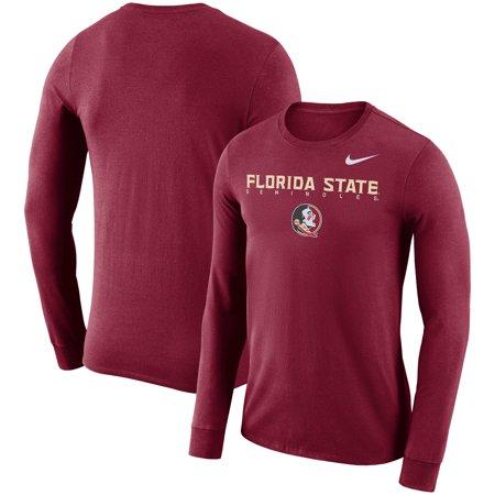 Florida State Seminoles Nike 2018 Facility Dri-FIT Cotton Long Sleeve T-Shirt - (Nike Dri Fit Knit Long Sleeve Half Zip)