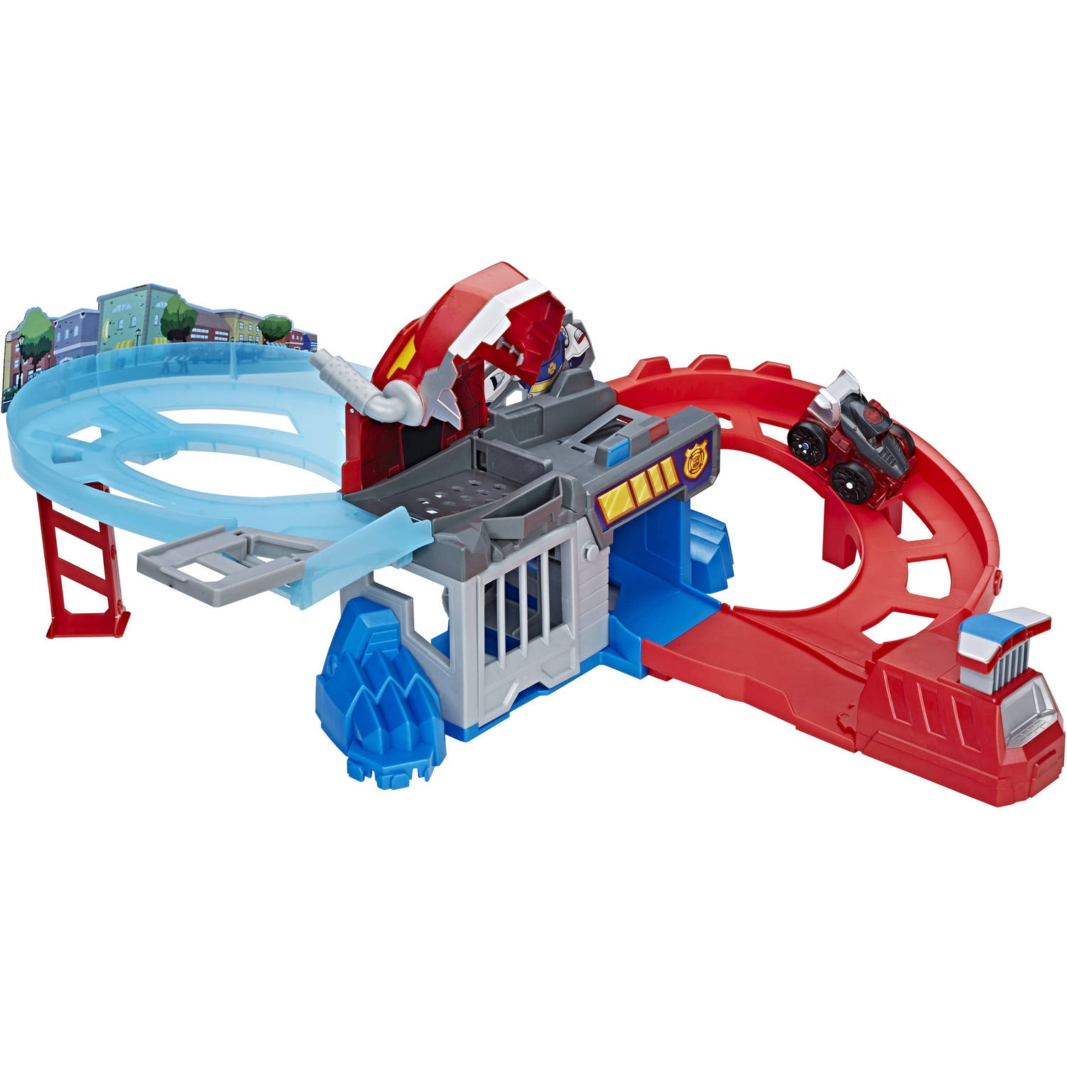 Playskool Heroes Transformers Rescue Bots Flip Racers Chomp and Chase Raceway by Hasbro