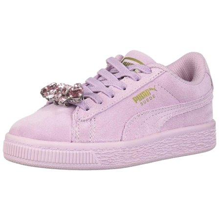 Puma Unisex Kids Suede Jewel Kids Sneaker ()