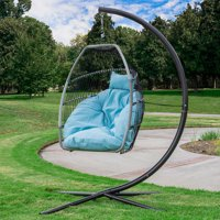 Deals on Barton Premium Hanging Egg Swing Chair Cushion Patio Seating