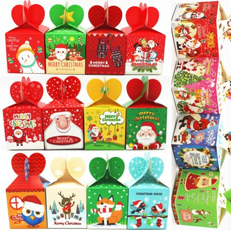 Christmas Gift Boxes For Cookies (Obstce 12Pcs Paper Candy Cookie Sweets Gift Party Christmas Eve Fruit Packing Box)