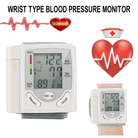 Blood Pressure Cuff Monitor Upper Arm, Auto Pulse Rate Systolic Diastolic BP Tracker, Irregular Heartbeat & Hypertension Detector, Backlit Display - image 1 of 8