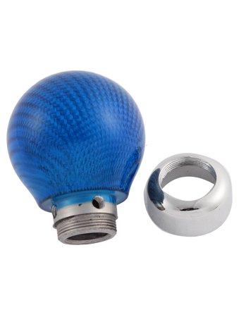 unique bargains blue carbon fiber round ball car manual. Black Bedroom Furniture Sets. Home Design Ideas