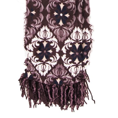 - Elle Decor Flannel Plush Throw With Chenille Fringes 50