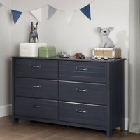 South Shore Ulysses 6-Drawer Double Dresser, Blueberry