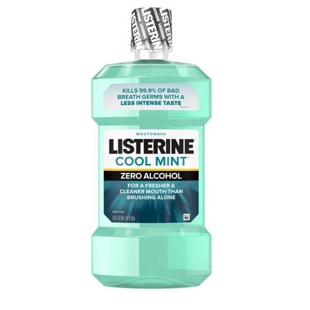 Listerine Zero Alcohol-Free Mouthwash, Cool Mint, 1 l