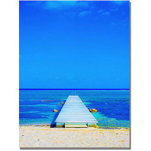 "Trademark Art ""Beach-Pier"" Canvas Wall Art by Preston"