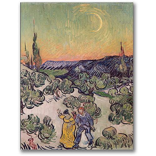 "Trademark Fine Art ""Moonlit Landscape,1889"" Canvas Wall Art by Vincent van Gogh"