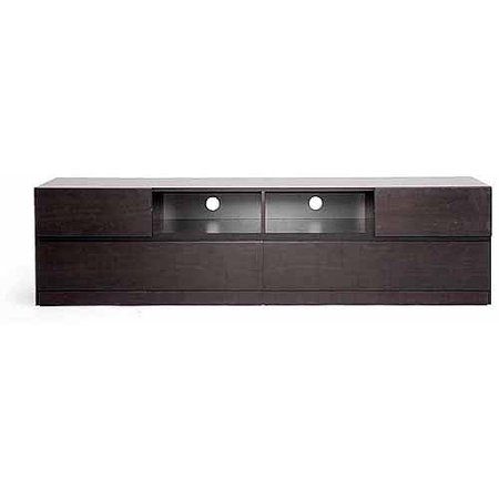 Wholesale Interiors Lovato Modern TV Stand for TVs up to 70;, Dark Brown