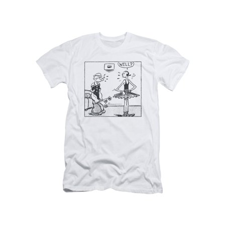 Popeye The Sailor Man Cartoon Strip Popeye & Olive Oil Well Adult Slim T-Shirt - Couples Halloween Costumes Popeye And Olive Oyl
