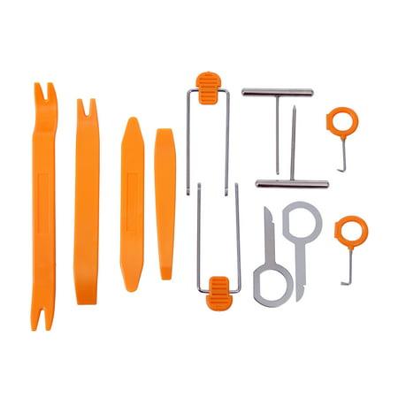 HDE 12 pcs Auto Pry Tools Kit Door Trim Panel Dash Stereo Radio Interior Light