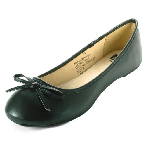 Alpine Swiss Iris Womens Ballet Flats Suede Lined Classic Bow Ballerina Slippers Black Size 9