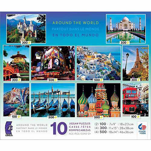 Ceaco 10-Puzzle Collection, Around The World Photo Puzzles, 3400 pieces total