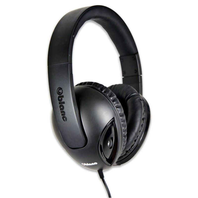 Oblanc Cobra210 NC1 2.1 Amplified Gaming Stereo Headphone w/ mic Black/ Black
