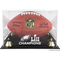 Philadelphia Eagles Super Bowl LII Champions Golden Classic Football Logo Display Case - Fanatics Authentic Certified