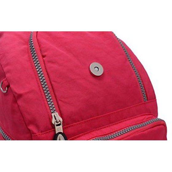 Tiny Chou - Tiny Chou Mini Waterproof Nylon Backpack Casual Lightweight  Strong Daypack Red - Walmart.com 465c429db1d60