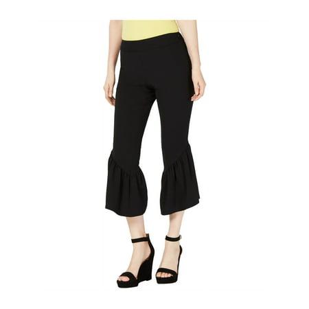 I-N-C Womens Ruffle-Hem Casual Cropped Pants deepblack 16x26 - image 1 of 1