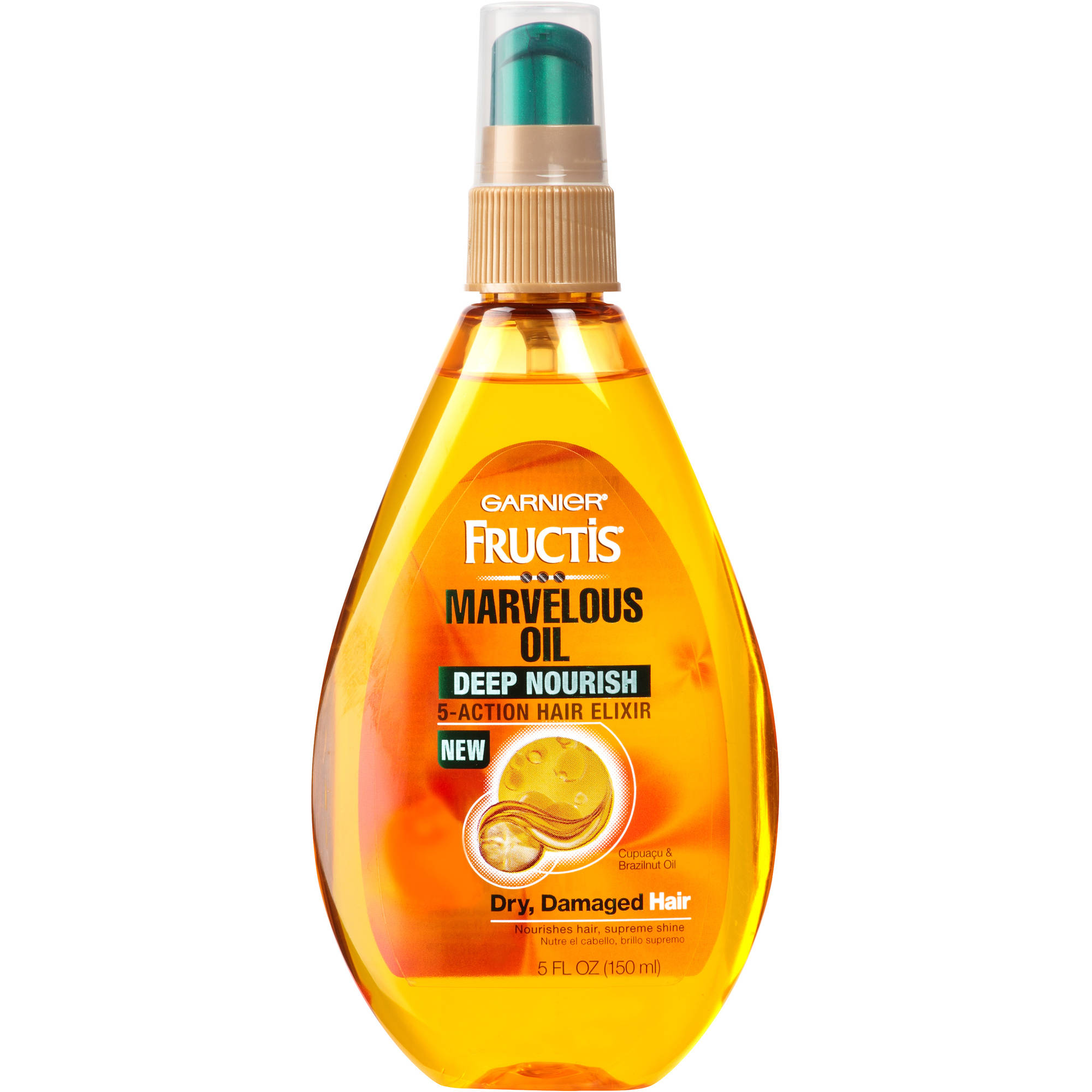Garnier Fructis Marvelous Oil Deep Nourish 5-Action Hair Elixir, 5 fl oz