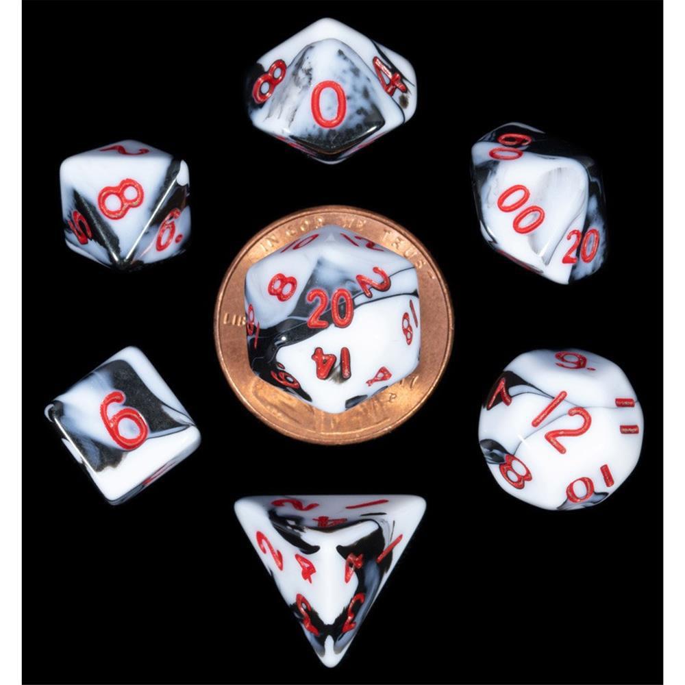 7-Set Mini: MBL w/RD Numbers Metallic Dice Games LIC41031
