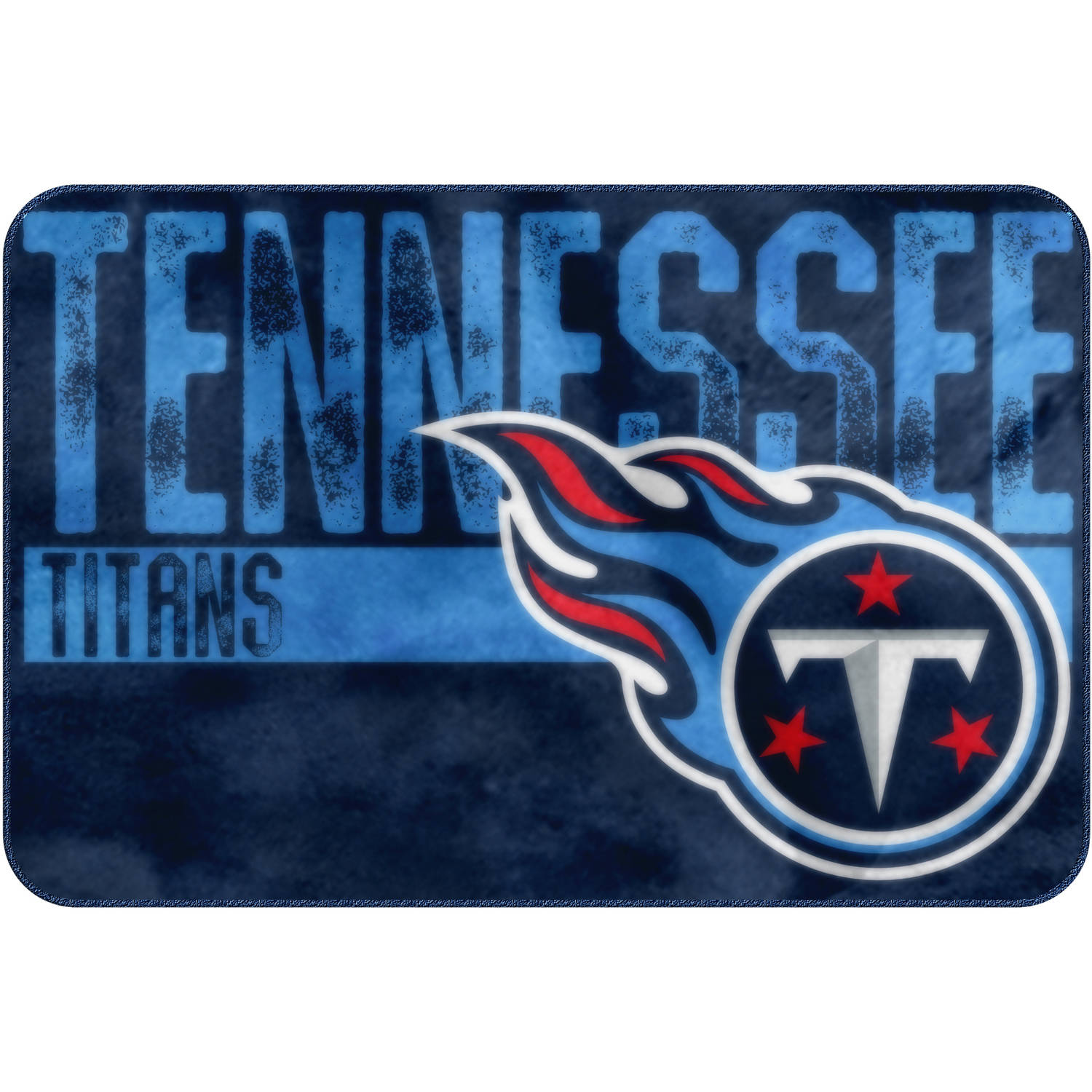 """NFL Tennessee Titans """"Worn Out"""" Mat, 20"""" x 30"""""""