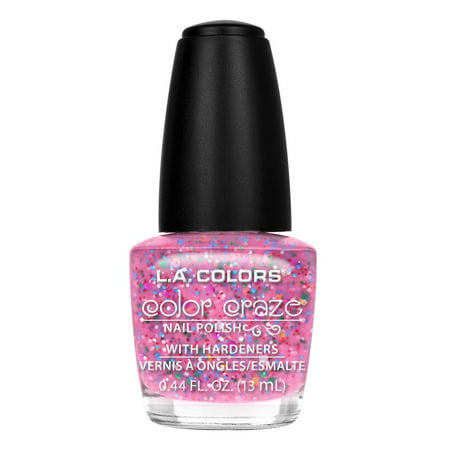(5 Pack) LA Colors Color Craze Nail Polish, Candy Sprinkles, 0.44