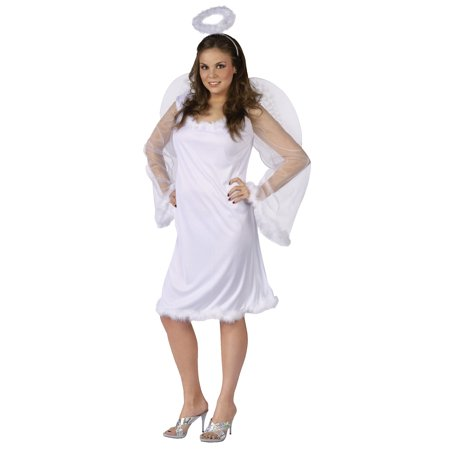 Heaven Sent Adult Plus Halloween Costume, Size: 16W-20W - Homemade Halloween Plus Size Costume Ideas