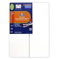 Elmer's Tri-Fold Foam Display Board, White, 28x40 Inch