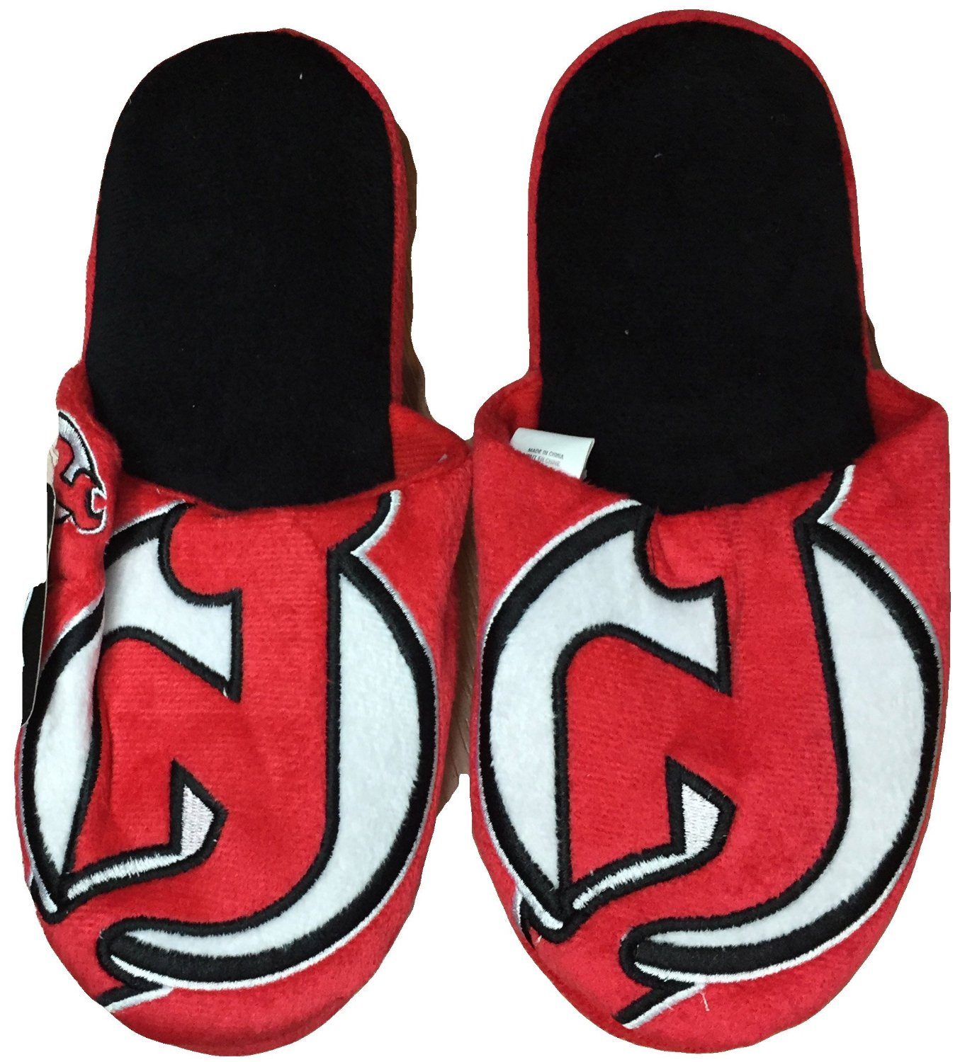 NHL New Jersey Devils Official Slippers by Forever Collectibles (Large (11-12))