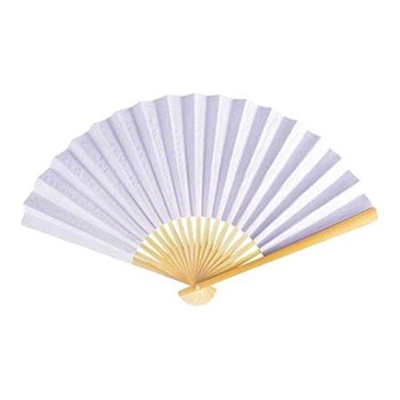 Wedding Programs Fans (12 Pack White 10