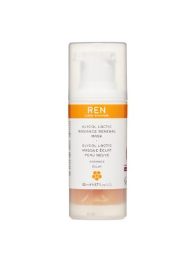 Ren Glycol Lactic Radiance Renewal Face Mask, 1.7 Fl Oz