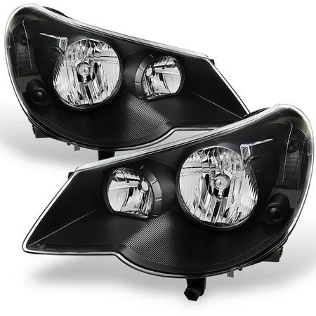 - Fit 07-10 Sebring 4Dr Sedan Black Replacement Headlights Headlamp L+R