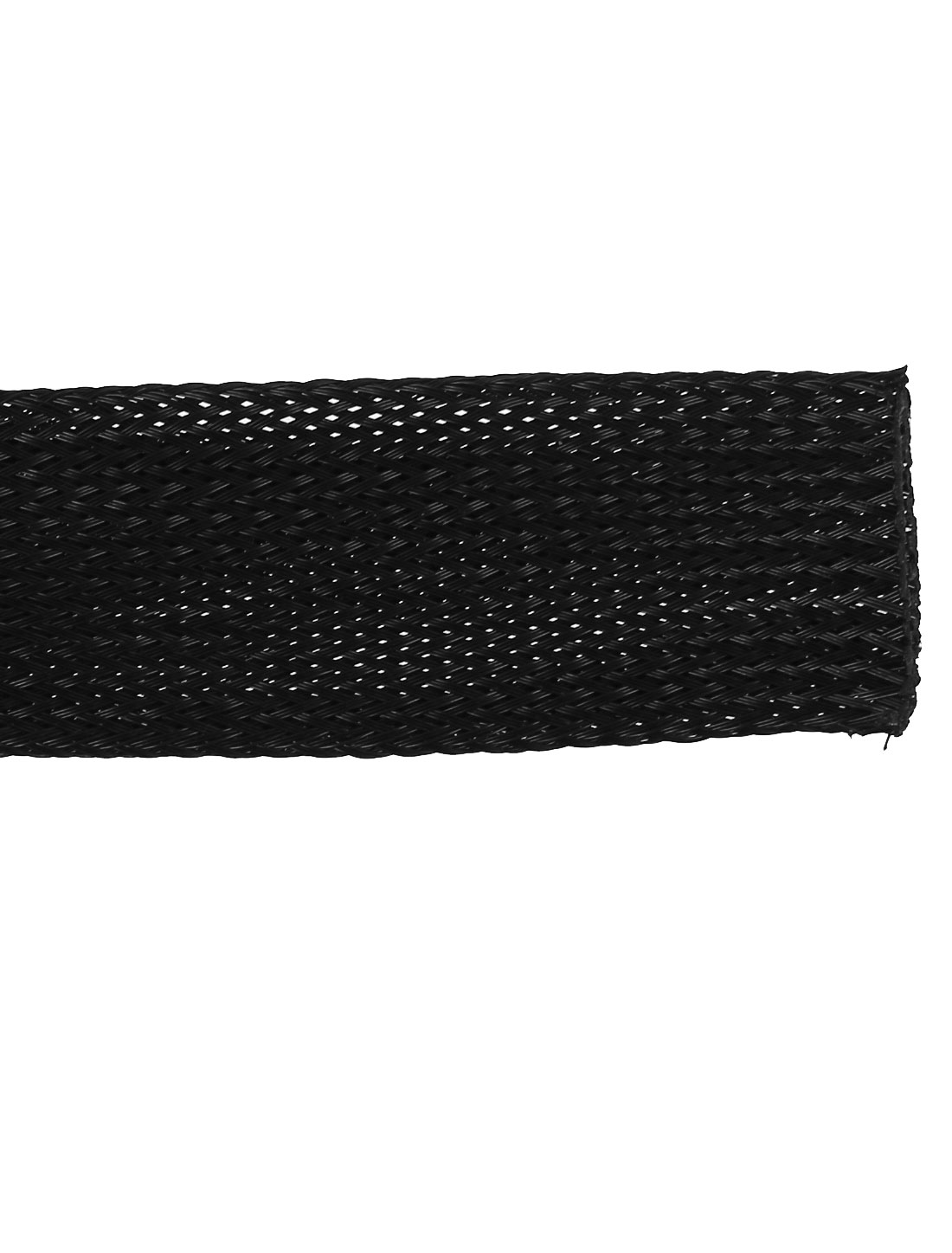 """Black 11m 36ft Long Braided Expandable Sleeving Cable Harness 25mm 1/"""" Width"""