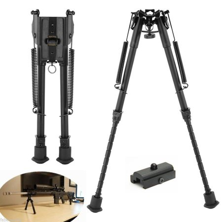 CVLIFE 9-13 Inches Rifle Bipod w/ 20mm Picatinny Rail Mount Adapter