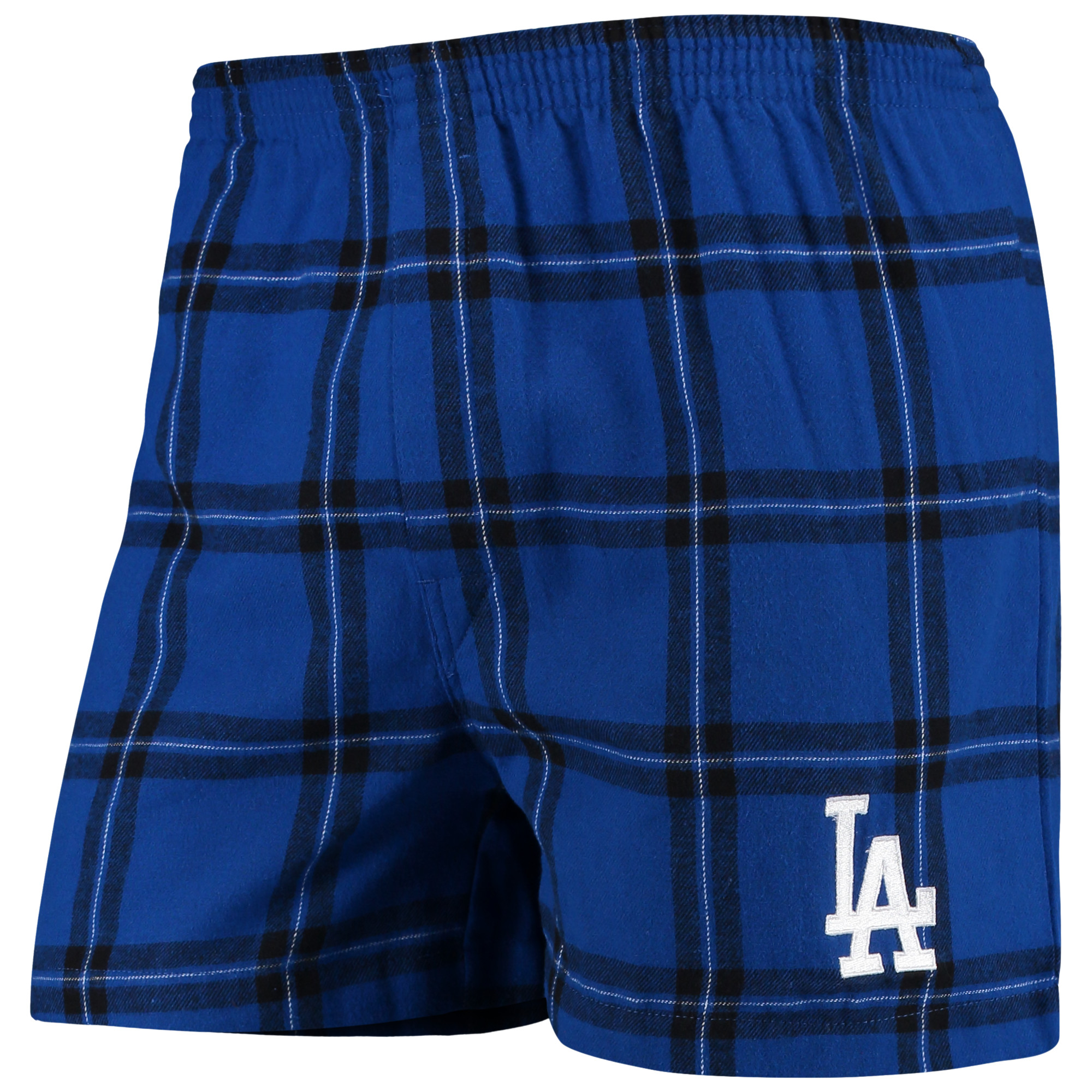 Los Angeles Dodgers Concepts Sport Homestretch Flannel Boxer Shorts - Royal