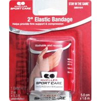 Mueller Sport Care Elastic Bandage, Washable, 2 Inches By 5.3 Feet Each Roll
