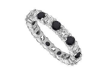 3.00Ct Princess Cut Black Diamond 14k Black Gold Over Engagement Bridal Ring Set
