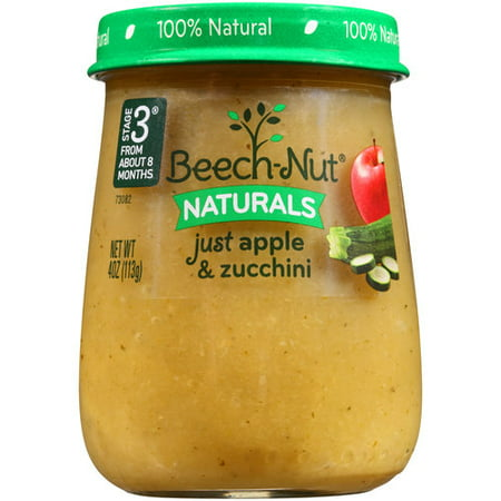 Beech Nut Naturals Just Apple Amp Zucchini Stage 3 Baby Food