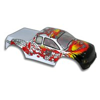 Redcat Racing 88015SR .10 Truck Body Silver and Red