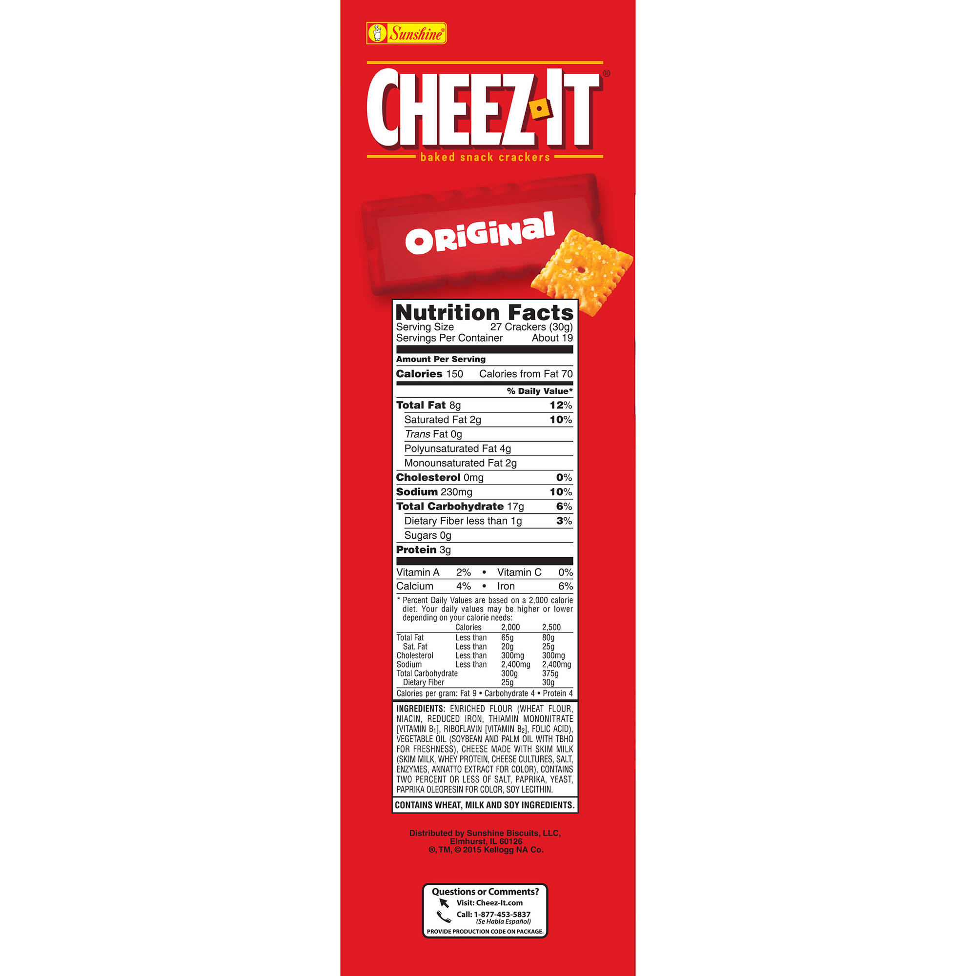 Cheez It Low Fat Nutrition Facts Nutrition Ftempo