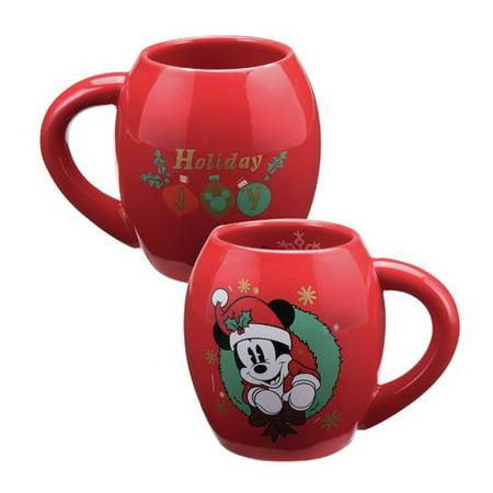 Vandor Llc Disney Mickey Mouse Holiday Oval Ceramic Coffee Mug