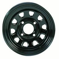ITP Delta Steel Wheel 12x7 - 4/156 - 4+3 Gloss black  #015521