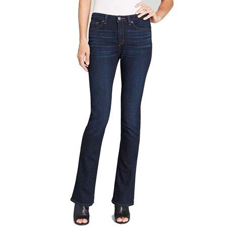 92ff1727733ae8 SPANX Womens Signature Straight HighRise Side Zip Straight Leg Jeans,  Indigo, 31 - Walmart.com