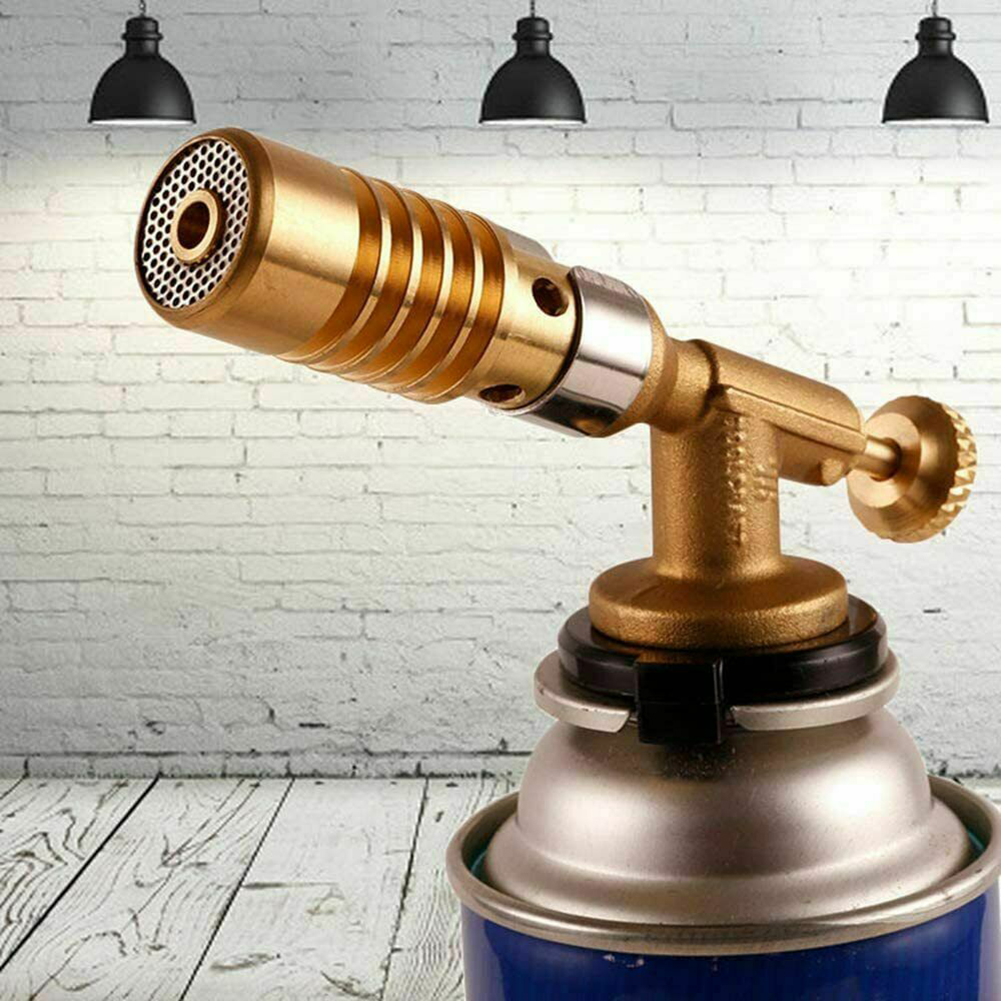 Portable Flame Gas Torch Blowtorch Copper Butane Lighter Burner Heating Welding
