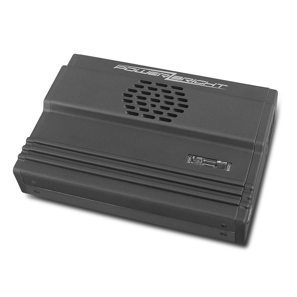 PowerBright XR175-12 Ultra-Slim 175W Power Inverter with USB Connection (Silver)