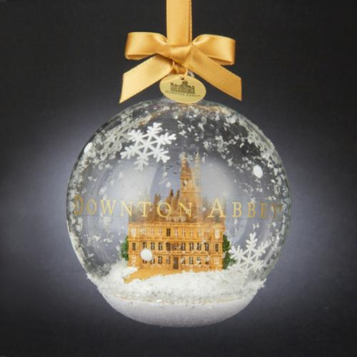 Pack of 6 Downton Abbey Castle in Glass Ball Christmas Ornaments 4.5""