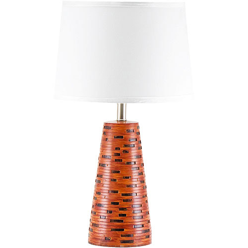 Table Lamp, Polyresin With Coffee-Color Finish