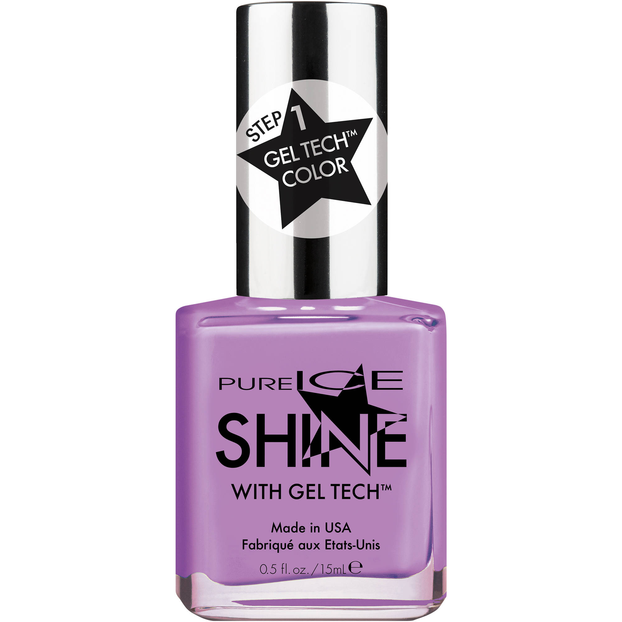 Pure Ice Shine with Gel Tech Nail Polish, Polite to Glare, 0.5 fl oz