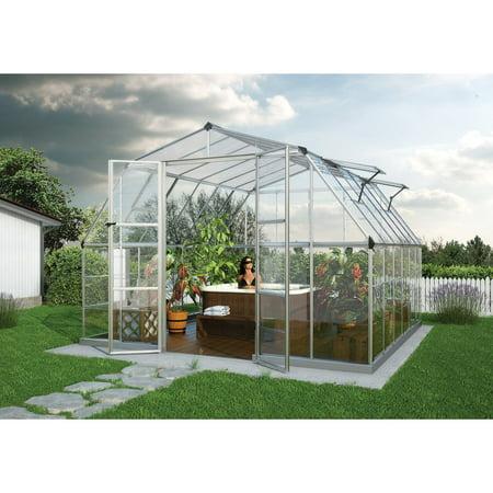 Palram Americana Silver Hobby Greenhouse - 12 x 12 ft.
