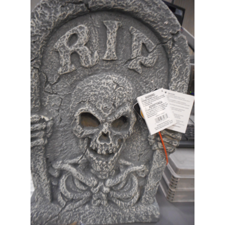 Light Up Reaper Tombstone Halloween Decoration - Halloween Office Themes Decoration