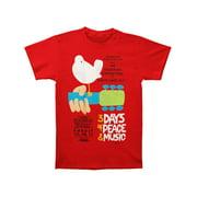 Woodstock Men's  Woodstock Poster T-shirt Red